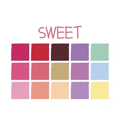 Sweet Color Tone without Code vector image