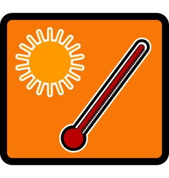 Temperature vector image