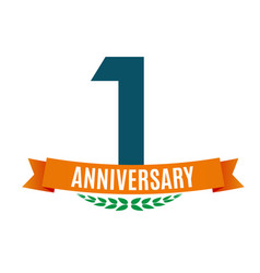 Template 1 years anniversary background with vector