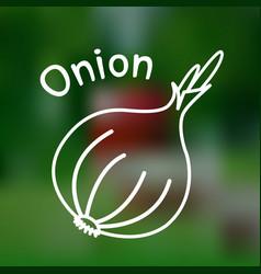 thin line onion icon vector image