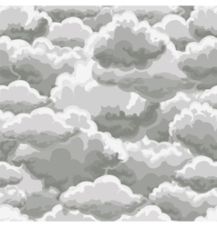 Thunder sky seamless pattern vector