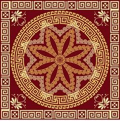 Traditional vintage golden Greek ornament Meander vector