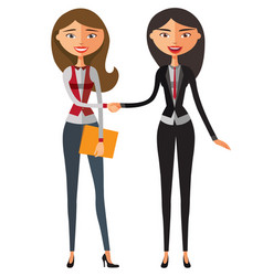 Two businesswoman one blond lady vector