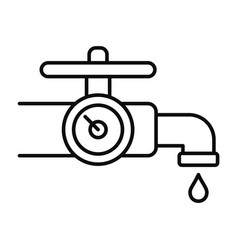 water tap control icon outline style vector image