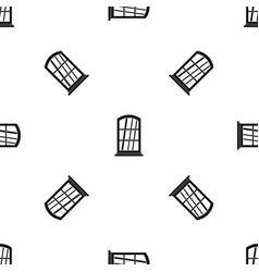 White narrow window pattern seamless black vector