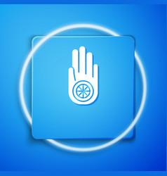 white symbol jainism or jain dharma icon vector image