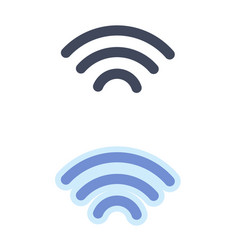 Wi-fi telecommunications symbol isolated on white vector