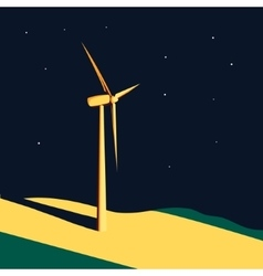 Wind turbine background vector