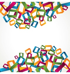 colorful 3d square block background vector image vector image