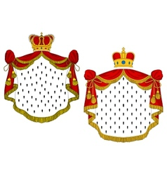 Heraldic royal mantles vector image vector image