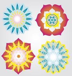 Mini Mandalas icons vector image vector image