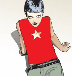 punk pop star vector image vector image