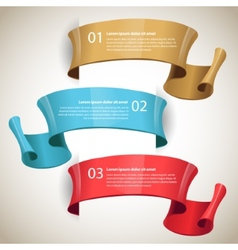 ribbons Design infographic template vector image vector image