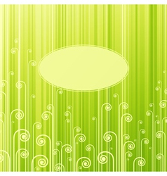 abstract green swirls vector image vector image