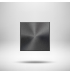 Black abstract Square Button Template vector image vector image