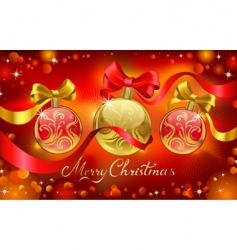 chrismas greeting card vector image