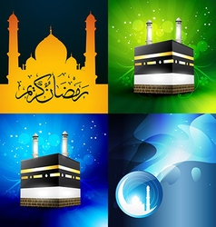 collection of attractive background of ramadan vector image