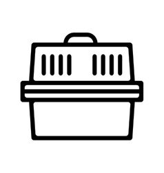 Pet carrier Flat linear icon product for pets vector image vector image
