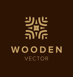 wooden logo design creative symbol element for vector image
