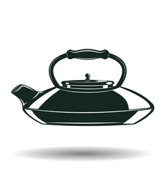 monochrome kettle sign vector image vector image