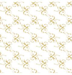 Golden sketch briar decor seamless pattern vector