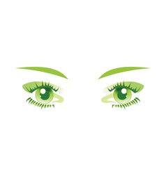green eyes isolated vector image vector image