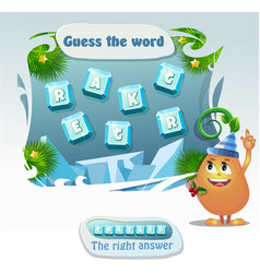 guess the word cracker vector image