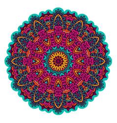 indian floral ethnic mandala ornament vector image