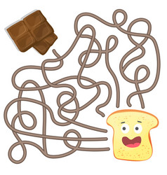 maze or labyrinth game for children puzzle - help vector image