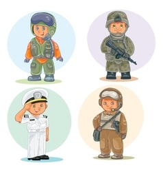 Set icons of small children different vector image