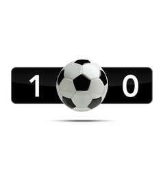 soccer or football 3d ball with score vector image vector image