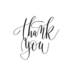 thank you hand lettering inscription positive vector image vector image