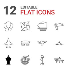12 air icons vector image