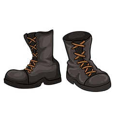 A pair of gray boots vector