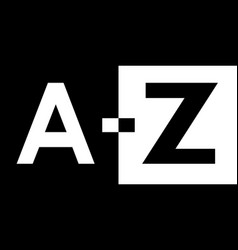 A to z black and white vector