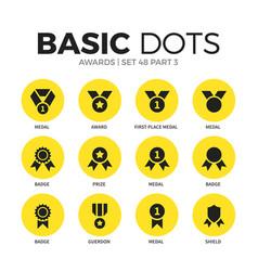 Awards flat icons set vector