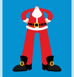 big santa claus huge christmas grandfather great vector image