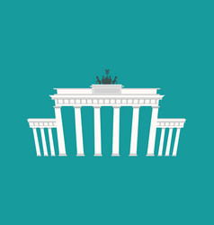 Brandenburg gate landmark germany historic vector