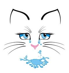 Cat cartoon character vector