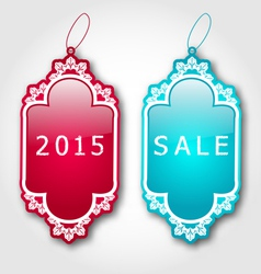 Christmas colorful discount labels with shadows vector image