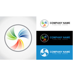 colorful abstract lens logo design template vector image