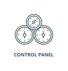 control panel line icon control panel vector image