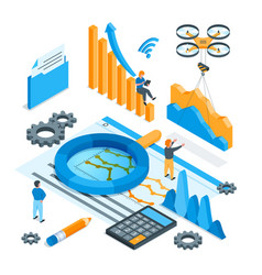 data analysis concept 02 vector image