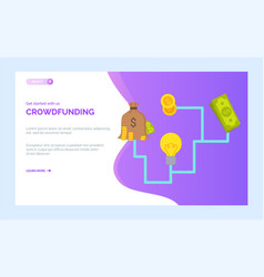 dollars and cash investment create and idea vector image