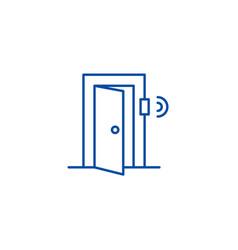 door signal security line icon concept door vector image