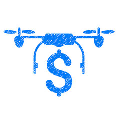 Drone business grunge icon vector