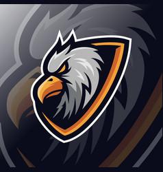 eagle mascot esport logo vector image