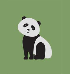 Flat style panda vector