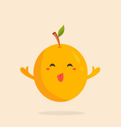 Funny cherry plum alycha character design vector