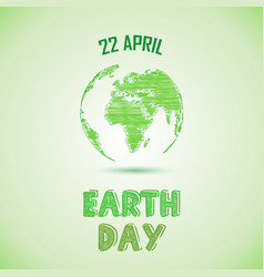 green earth day background vector image